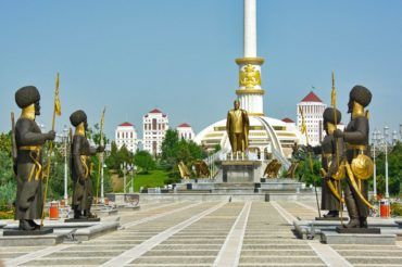 Ashgabat independence park-Turkmenistan