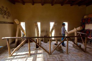 Samarkand konigil paper factory - handicraft Uzbekistan