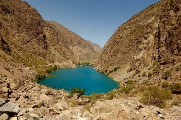 one of the seven lakes, Tajikistan travel
