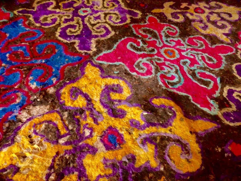 Central Asia felt ornament
