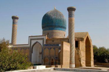 Gur-Emir Mausoleum, where Temurlan is buried, Samarkand - Uzbekistan Uzbekistan tourist spots
