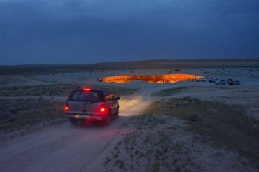 Darvaza gaz crater in desert - Turkmenistan