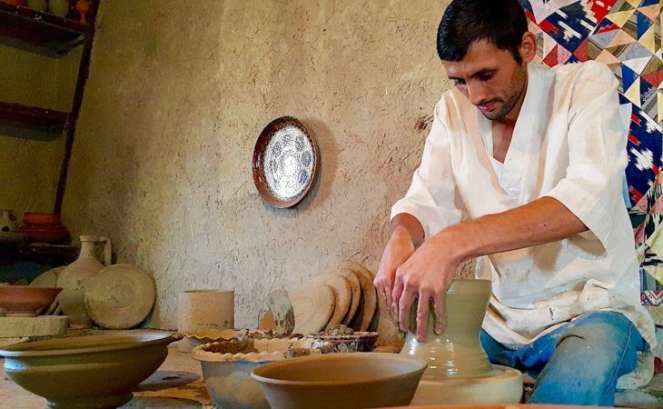 gijduvan special pottery on the silk road uzbekistan travel