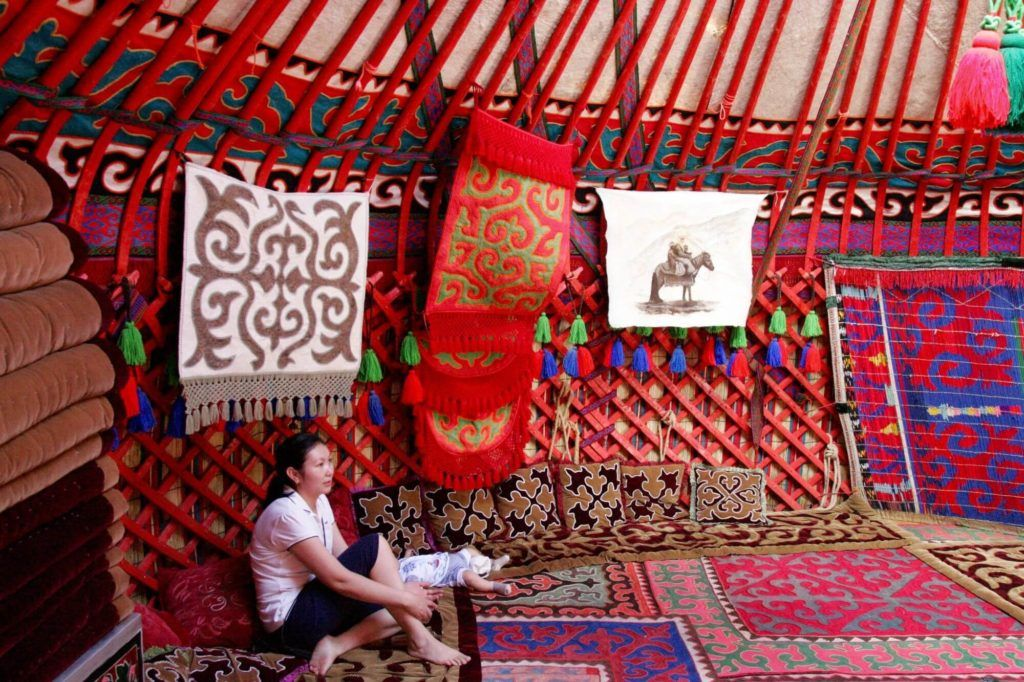 Central Asia yurt inside