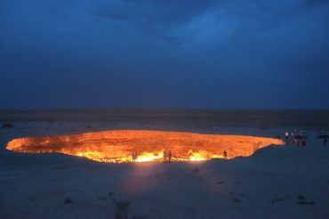 Darvaza huge crater of fire - Turkmenistan