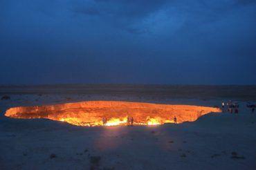 Darvaza huge crater of fire - Turkmenistan