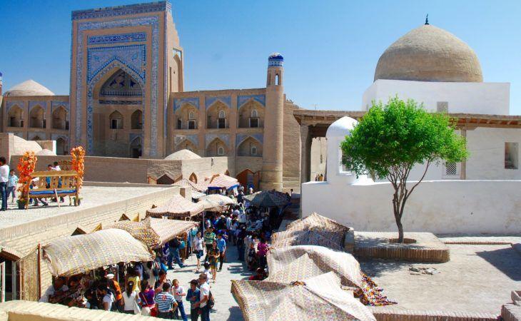 bazaar view in Khiva, Uzbekistan tour