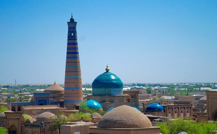 Best Central Asia Tour: Khiva view of the high tower