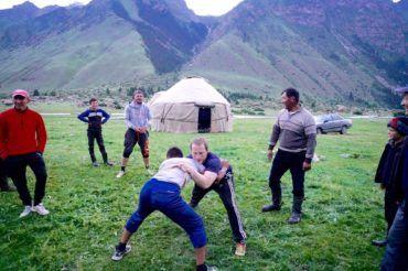Kyrgyz wrestling kargyzstan group tour