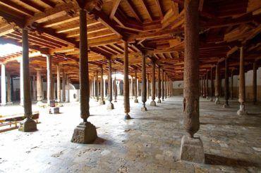 Khiva juma mosque with pillars- Uzbekistan tourism places