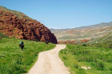 Djeti Oguz valley Kyrgyzstan landscape