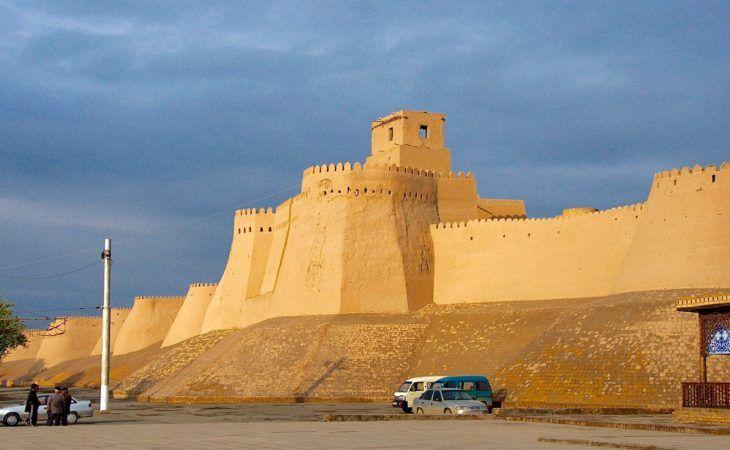 entrance gate to khiva, uzbekistan