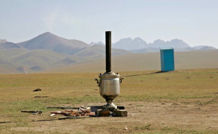 tea drinking tradition in kyrgyzstan