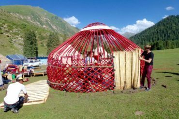 Structure of the yurt kyrgyzstan tour