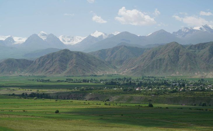 Kyrgyzstan has beautiful mountain landscape and offers outdoor adventures