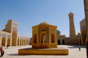 Bukhara the high Kalyan minaret in Uzbekistan tourist spots