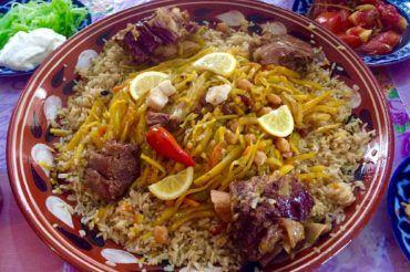 Uzbek Plov, central Asian Cuisine
