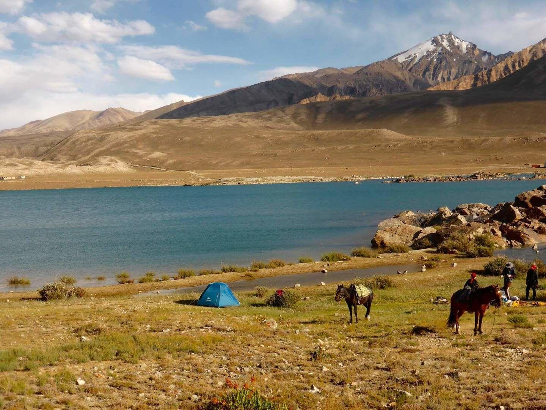 Camping gear & horses in Pamir - Tajikistan Travel