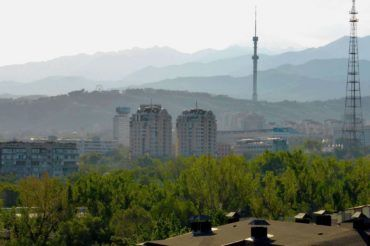 View Towards Kok Tobe Hill Almaty
