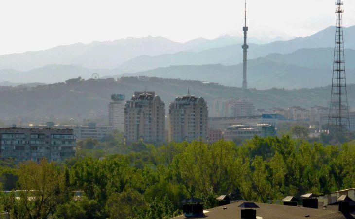 View Towards Kok Tobe Hill Almaty