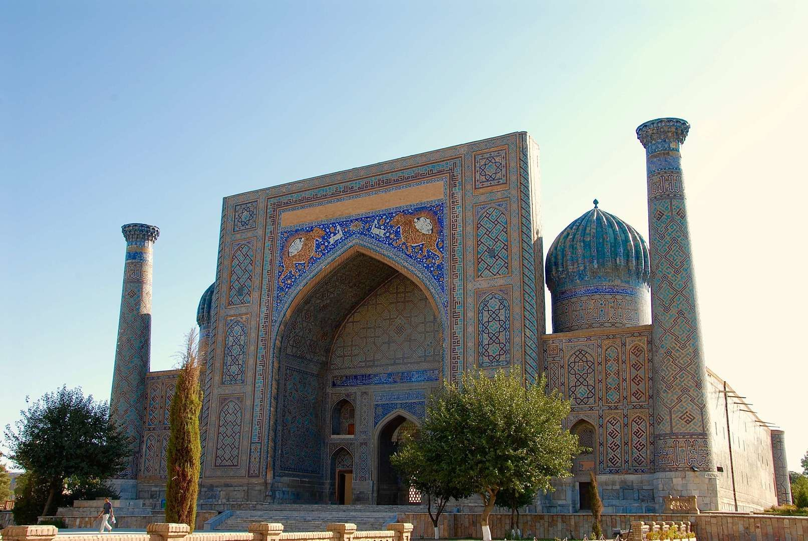 Sher-Dor Madrasha on Registan Square in Samarkand