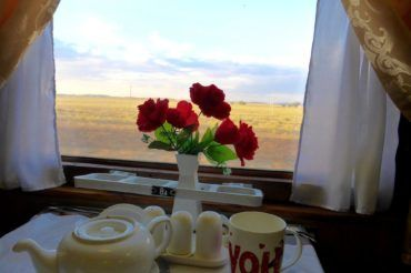 Restaurant Waggon in Kazakh Train