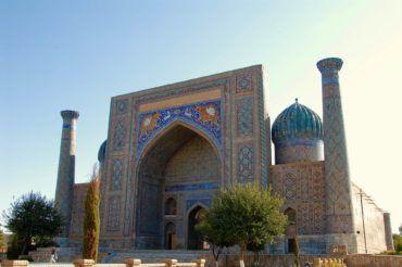 Sher-Dor Madrassah Samarkand - Uzbekistan Registan architecture