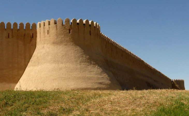 Walls of Turkistan in Kazakhstan travel