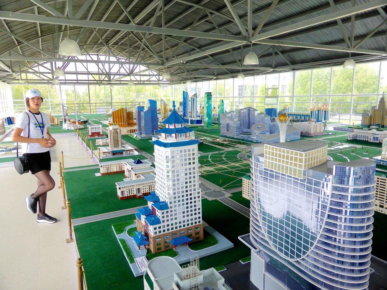 Astana architecture in miniature museum