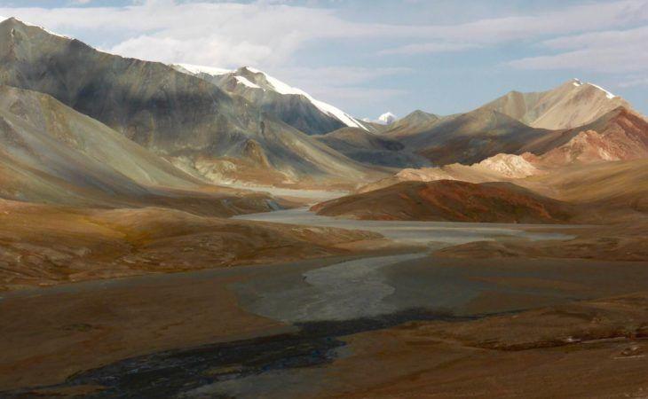 Wild mountain plateau in Pamirs, Tajikistan Travel