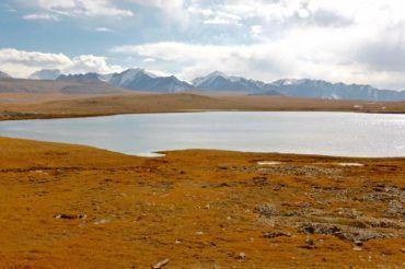 Lake landscape Kyrgyzstan