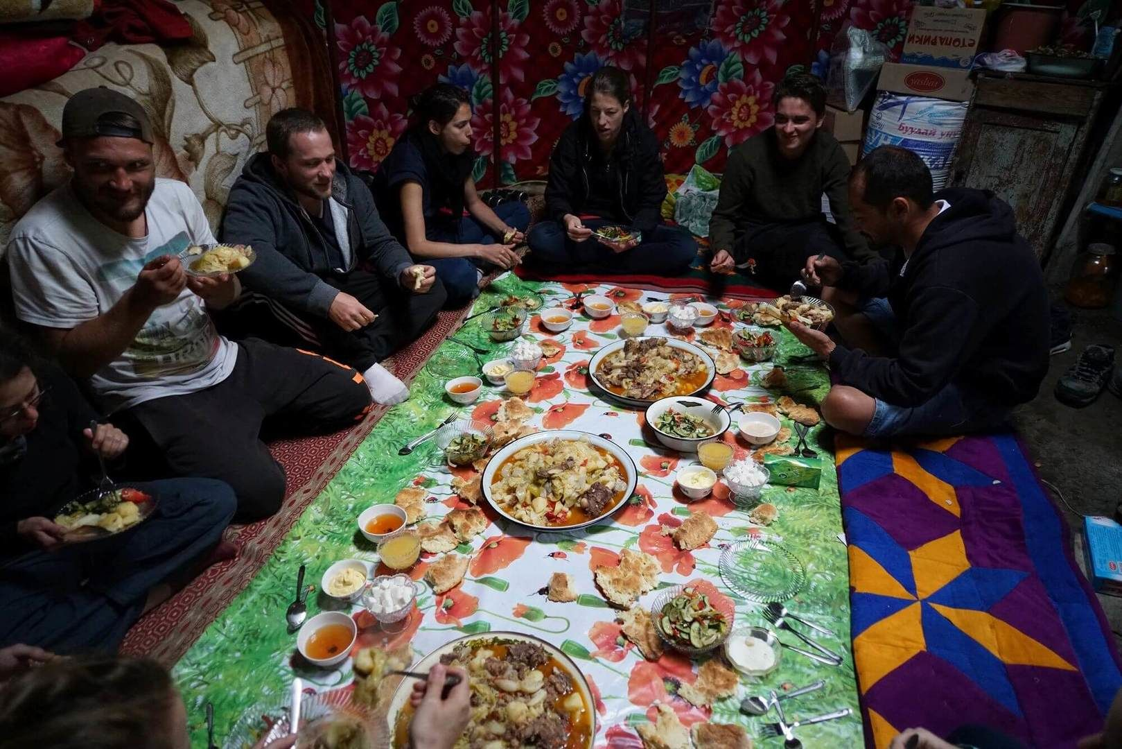 Party like a nomad or eating like a nomad in Kyrgyzstan Tours