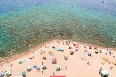 Kyrgyzstan beach, Issyk Kul swimming