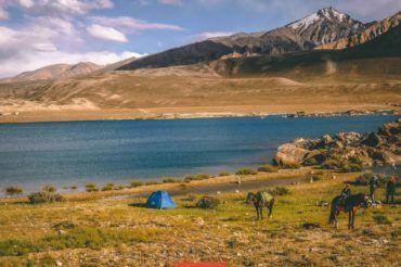 Pamir highway camping