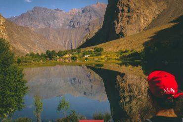 Pamir mountains hiking