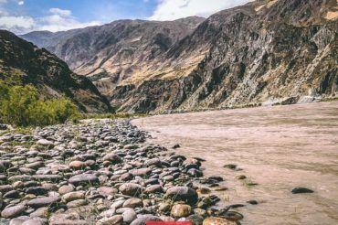 Panj River, Pamir Highway in Tajikistan