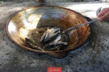 Tajikistan cooking fish