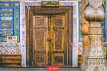 Uzbekistan, wood oriental doors