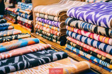 Uzbekistan, silk, Ikat