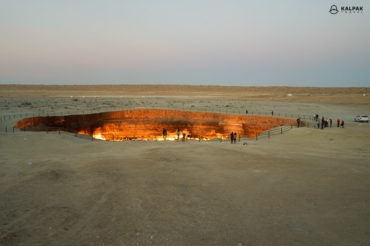 Darvaza gaz crator in Turkmenistan