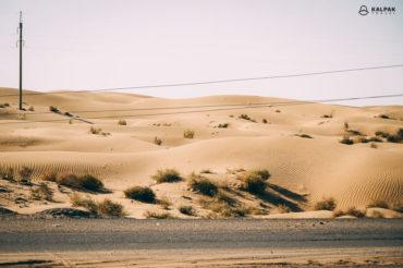 Kyzylkum desert in Turkmenistan