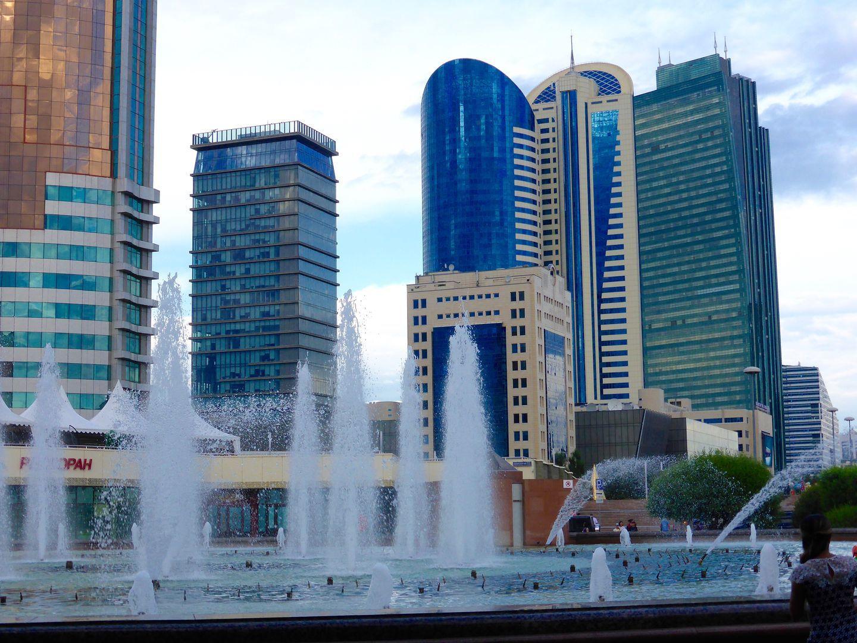 Astana skyscrapers in kazakhstan trip, central asia adventure