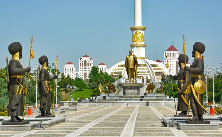 Gold & Marmor of Ashgabat, capital of Turkmenistan