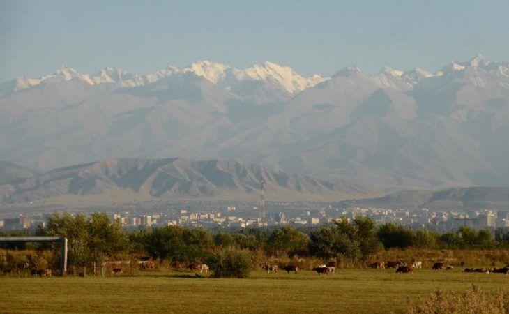 Bishkek nearby mountain view of Chui Valley