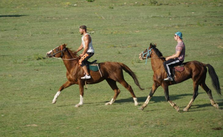 horse riding is a perfect outdoor adventure in Central Asia