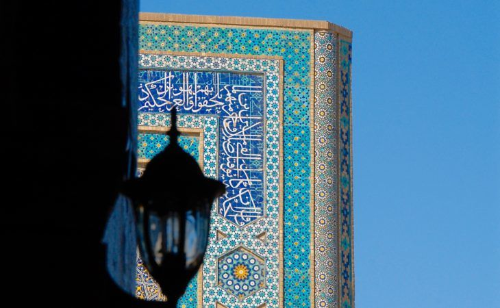 light with Samarkand timurid architechture in the background