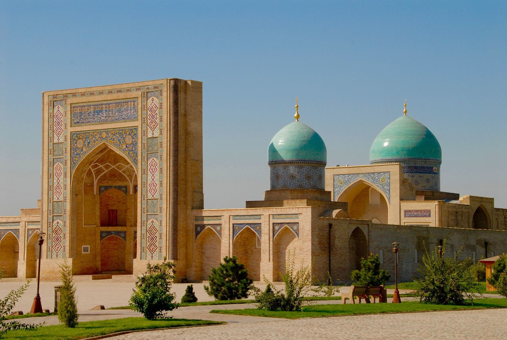 Tashkent mosque in Uzbekistan as seen during Best of Central Asia Tour