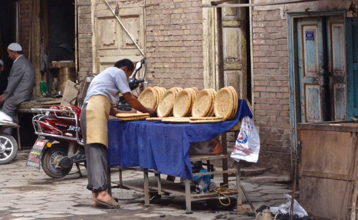 traditional central asian bread