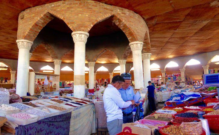 men in bazaar in Penjikent city, Tajikistan