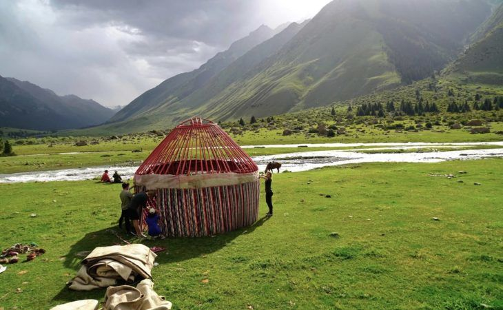 build your own yurt in kyrgyzstan, central asia tour